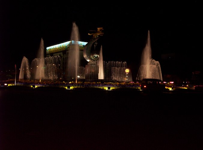 Fountains and Flying Pegasus